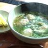 水菜と鶏肉団子のアジア風スープ