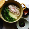 野菜ダレの常夜鍋(ほうれん草、人参)